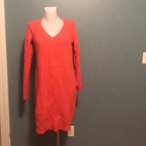 An. Taylor Coral Sweater Dress